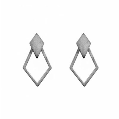 Dutch Basics Detachable Earrings 'Ruit' €55