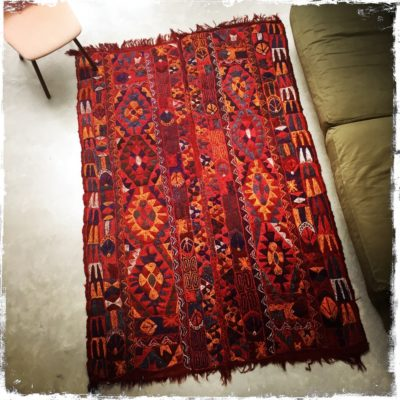 Petrol & Porcelain Autumn Leaves Colored Carpet €500