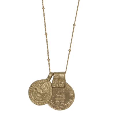 À La Indian Coin Drop Necklace €55