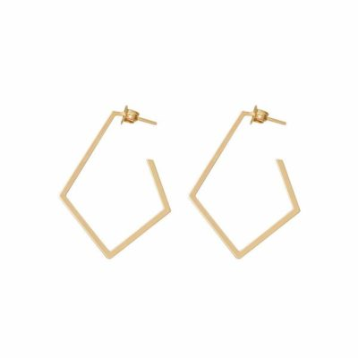 Dutch Basics Diamond Creole Earrings Ruit – Gold Plated €75