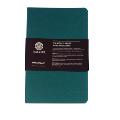Paper on The Rocks Softcover turquoise Tan €11,95