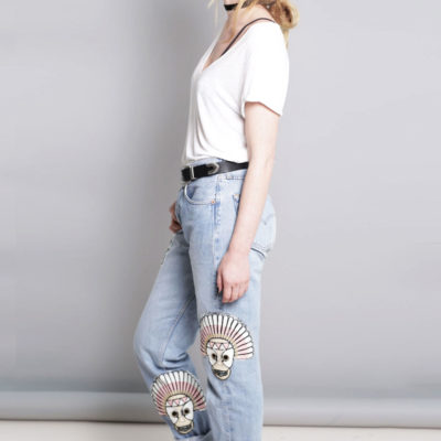 BLA CUSTOMIZED VINTAGE LEVI'S JEANS WITH PATCHES €79,95